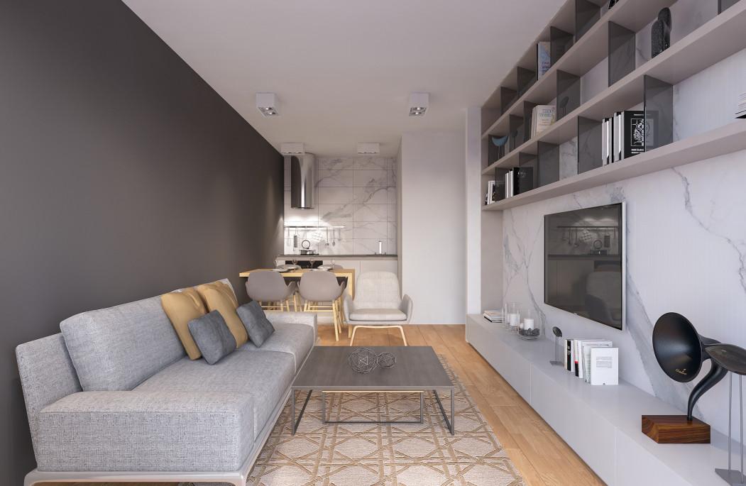 Еднособен стан од 40m2 во Карпош 2.2